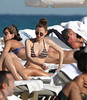 Made In Chelsea star,Rosie Fortescue enjoys the sun on Miami Beach during Christmas vacations