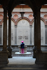 The little girl and the well (samuelloz) Tags: street italien light people urban italy milan nature landscape geotagged photography photo nikon europe italia photographer photos milano streetphotography photographic humans itali photograpy  flickrsbest  platinumphoto impressedbeauty theunforgettablepictures  d7000 nikond7000 d7000nikond7000