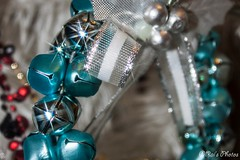 Jingle Bells - Day 31 (Rai's Photos) Tags: cant believe its last day silver this is loop bells some blue others though they look bluey i guess cos reflections also liberated dads sparkle filter again lol oh really do jingle