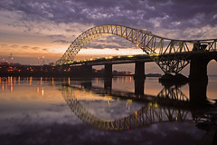 A.N.Other....... (Chrisconphoto) Tags: bridge reflections happynewyear merseyside widnes godlight runcornbridge