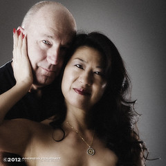 Happy New Year! (andy_57) Tags: portrait sexy me couple together desaturated michle americanbeauty asianbeauty noiseadded 2470mmf28g d7000 twelvesouthfirst britishhandsomeness