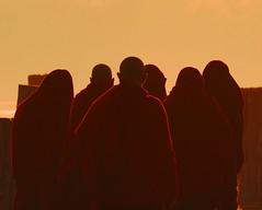 Mandalay, U Bein Bridge, Burma (mrcdvs) Tags: morning travel bridge red silhouette sunrise dawn burma sony monk monks alm myanmar birma mandalay ubein birmanie birmania mianmar flickraward flickrchallengegroup flickrchallengewinner nex5