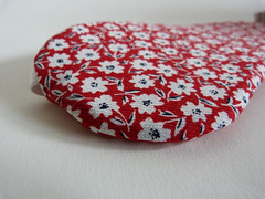 Red Floral Eye Mask (Bunny Bosworth) Tags: floral print handmade cotton gift spotty accessories simple polkadot eyemask sleepmask bunnybosworth