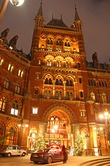 Christmas At St Pancras Hotel, London (Geraldine Curtis) Tags: christmas london stpancrashotel