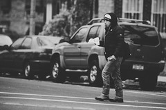 Early Bird (Instant Vantage) Tags: street nyc newyorkcity white black canon candid gritty queens 70200mm ef70200mmf28lisiiusm canonef70200mmf28liiisusm