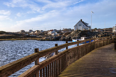 Sunny winter day (Peter Nystroem) Tags: houses coast sweden railing archipelago cabins gullholmen