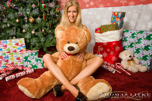 bear christmas xmas red snow tree hat naughty nice lingerie gifts boob 2470mm28 nikond700