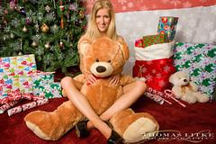 Emily - Xmas shoot (NoPro2009) Tags: bear christmas xmas red snow tree hat naughty nice lingerie gifts boob 2470mm28 nikond700
