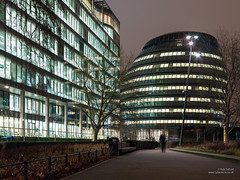 Potters Fields at night (cybertect) Tags: park london night office cityhall normanfoster se1 glabuilding londonse1 fosterpartners pottersfields canonfd24mmf28 3morelondon panasonicg2