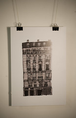 Terraced building in Paris (Jake Rowles) Tags: city house paris france streets building illustration print poster drawing line markers continuous terraced observational