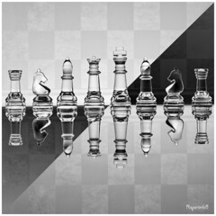 Chess: Geometry, Reflections and Transparencies... (Mario Vani) Tags: