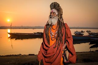 Watching sunrise in Varanasi