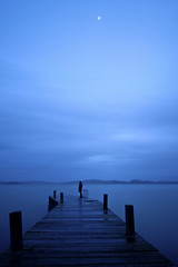 Blue Hour in the dock... (Andrea Morico) Tags: blue italy moon lake vertical landscape lago pier nikon italia blu luna ponte deck romantic ora now romantico paesaggio umbria verticale trasimeno pontile lagotrasimeno d90 laketrasimeno nikond90