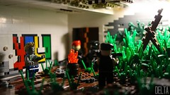 Zombified Remains (elta) Tags: overgrown grass graffiti lego zombie military apocalypse sniper guns yolo