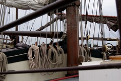 gear and tackle and trim (post.ndakota) Tags: netherlands boat marine ship nederland zeeland rope boom sheets sail nautical sailingship zierikzee nieuwehaven