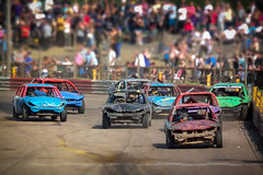 Miniature Race (Suggsy69) Tags: cars car race fuji shift racing tilt processed bangers tiltshift explored arenaessex hs10 bagerracing explored260113