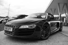 R8 V10 Spyder (Wannes P. Photography) Tags: black car belgium spyder audi supercar v10 r8