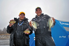 Team 40 Weeks: Jeff Kelm (l) and Aaron Berg (Dan Small Outdoors) Tags: tournament icefishing bigcreek dansmall jeffkelm outdoorsradio aaronberg recycledfish