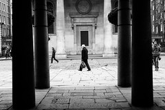 Columns (stephen cosh) Tags: life street city england people blackandwhite bw london sepia mono town candid streetphotography rangefinder reallife humancondition blackandwhitephotos 50mmsummilux blackwhitephotos leicam9 stephencosh leicammonochrom leicamm