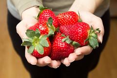 Strawberries (Paul Istoan) Tags: red food fruit hands strawberries