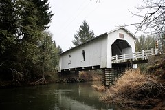 Hoffman Covered Bridge - Linn Co., OR (ZnE's Dad) Tags: oregon coveredbridge linncounty oregoncoveredbridges hoffmancoveredbridge