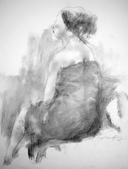 P1015335 (Gasheh) Tags: art painting drawing sketch portrait girl figure line pencil pastel gasheh 2016