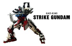cover LEGO Strike Gundam GAT-X105 (demon14082001) Tags: lego strike gundam gatx105 moc hobby mobile suit seed robot mecha