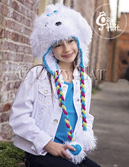 Maltese Puppy Hat (Anastasia wiley) Tags: maltesepuppyhat maltese puppy hat valentinesaypuppy heartsandbowsdog dog hearts bows hatwithhears furhat crochet kids toddlers adults anastasiawiley infant irarottpattern costume cozyhat