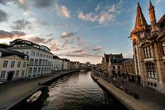 Sunset in Gante (Jose Carlos Osuna) Tags: nikkor 1424 sunset d700 clouds atardecer gante nubes belgica belgium