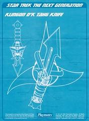Klingon D'k Tahg Knife (WEBmikey) Tags: startrek toys playmates sttng klingon