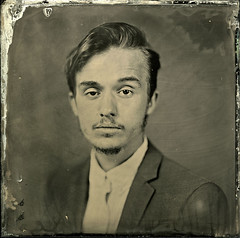 [rM] Collodion 1 ([Eric OLIVIER]) Tags: wetplate wet plate collodion ambrotype 18x18cm industar i13 30cm f45 portrait chapeau jeune homme fille young studio strobe 1200w flash