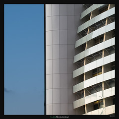 Curves, White and Blue (Ilan Shacham) Tags: abstract architecture minimalism shape form geometry line simple curve repetition fineart fineartphotography sky blue white azorim petahtikva israel