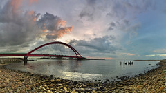 () (szintzhen) Tags:            sunset sunglow bridge water reflection cloud sky taoyuancity taiwan photomerge