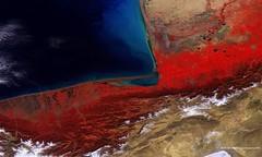 Caspian Sea, Iran-Turkmenistan (europeanspaceagency) Tags: caspian sea turkmenistan iran coast water esa probav