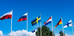 Flags of Marina (Jori Samonen) Tags: flags marina poland russia sweden netherlands germany trees blue sky clouds kruununhaka helsinki finland bandeiras sony ilce3000 e 1855mm f3556 oss sonyilce3000 e1855mmf3556oss flagi  flaggor vlaggen fahnen liput