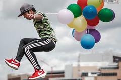 R3D02546 (r3ddlight) Tags: asian asianboy sonya6300 sonyphoto sony85mmgm portrait jump balloon balloons nike