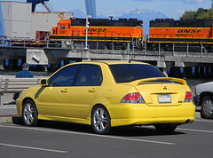 Mitsubishi Lancer (AJM CCUSA) (AJM STUDIOS) Tags: usa 2016 ajmcarcandidusa ajmcarcandidcollection carcandid carcandidcollection carcandidusa ajmccusa automobile car vehicle carphotos automobilesphotos automobilephotography ajmstudios northamericancars carsofnorthamerica carsoftheunitedstates mitsubishilancer yellowmitsubishilancer mitsubishilancerback mitsubishilancerrear mitsubishilancerphoto mitsubishilancerphotos mitsubishilancerphotography mitsubishilancerpicture mitsubishilancerimages mitsubishi lancer train locomotive mountains mitsubishilancerpics