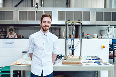 Made@Eu Artist in Residence: Alfie Smith (Made@EU) Tags: blue alfie smith madeeu 3d printing fablab fablabs plymouth arts crafts pate de verre glass