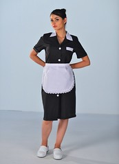 Blouse noire femme de chambre (MYLOOKPRO) Tags: maid maids maiduniform waitress uniform housekeeping