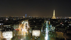 Montparnasse Tower & Eiffel Tower from the Arc de Triomphe, Paris (Precision Machining China Manufacturer) Tags: eiffel from montparnasse paris tower triomphe