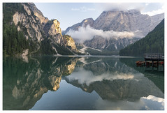 (Andrea Boldini) Tags: landscape travel mountain lake reflection cloud sky sundown scenic boat summer braires