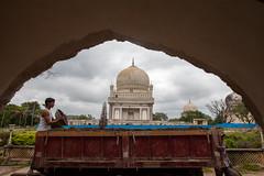 Restoring the tombs (neelabh75) Tags: qutubshahi tombs hyderabad quli qutub shah traiker soil restore asi canon 5dmk2 24mm