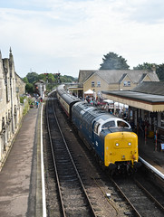 Deltic at Wansford (simmonsphotography) Tags: nenevalley railway railroad locomotive engine train preserved preservation gala heritage class55 deltic 55022 royalscotsgrey 55007 pinza diesel dieselelectric electric