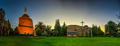 Woodmead Maronite Church, Johannesburg (Paul Saad (( ON/OFF ))) Tags: maronite church ourladyoflebanon catholic southafrica johannesburg woodmead sunset sunrise panoramic hdr pano panorama colors