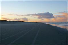 tracks (Elly Snel) Tags: ameland island nl sporen tracks strand beach zonsondergang sunset clouds wolken