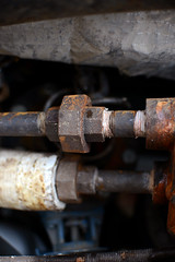 (John Donges) Tags: dumpster broken disused refuse junk old metal equipment rust pipe hexagonal nuts insulation 6270