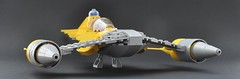 Naboo N-1 starfighter (Landed) (Inthert) Tags: naboo lego moc ship star wars n1 phantom menace r2d2 fighter royal starfighter landing gear landed