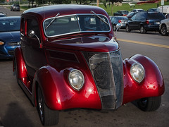 Seeing Red (Lake Effect) Tags: elkhart indiana artwalk car red utata:project=seeingred