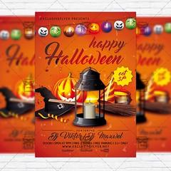 Happy Halloween - Premium Flyer Template + Instagram Size Flyer (ExclusiveFlyer) Tags: ghosts happyhalloween horror horrornight night october pumpkin scary skull thriller witch zombie