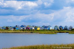 Beach Huts (AJScottPhoto) Tags: beachhuts mudefordspit hengistburyhead summer clearsky seaside dorset bright colour landscape photography